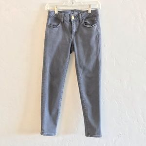 American Eagle Outfitters Gray Jegging Crop Pants